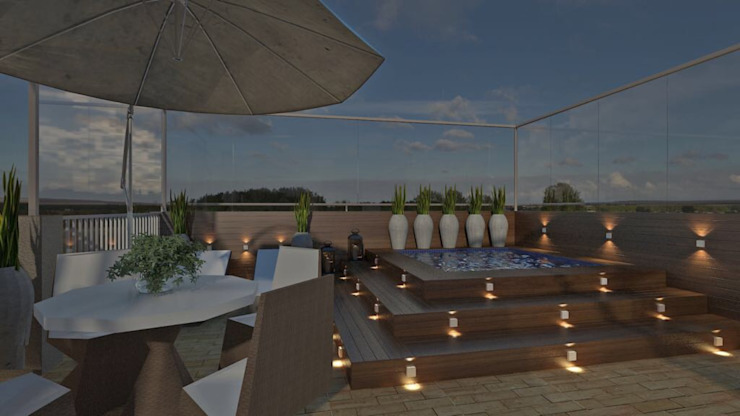 Roof terrace by Elaine Orosco