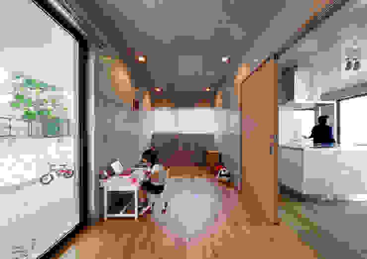 一級建築士事務所アトリエm Nursery/kid's room Reinforced concrete Grey