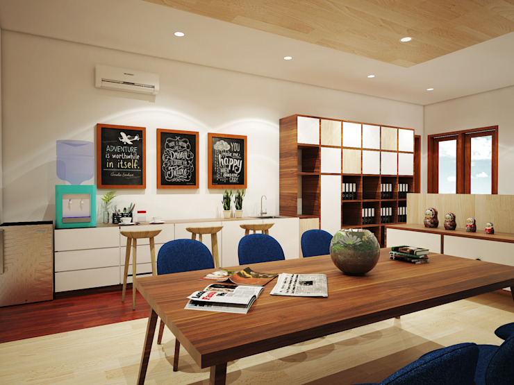 Jasko Office Renovation Kantor & Toko Minimalis Oleh SEKALA Studio Minimalis Kayu Lapis