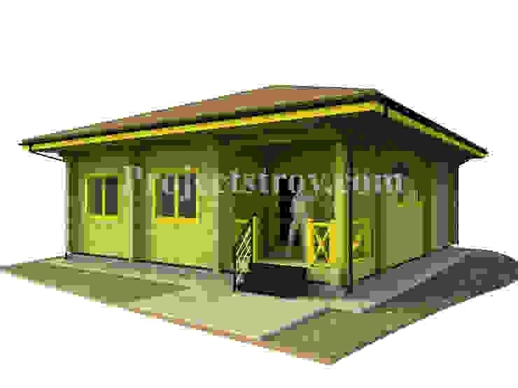 Проект одноэтажного дома из бруса: Деревянные дома в . Автор – Projectstroy,
