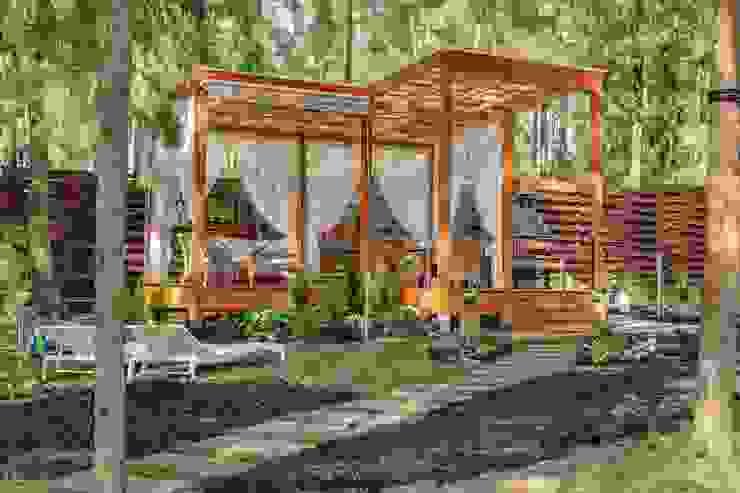 Modern Garden by Anastasia Yakovleva design studio Modern Wood Wood effect