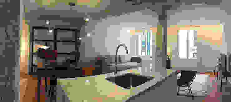 Cocina - comedor - salón Modern Kitchen by Soluvent Window Solutions Modern