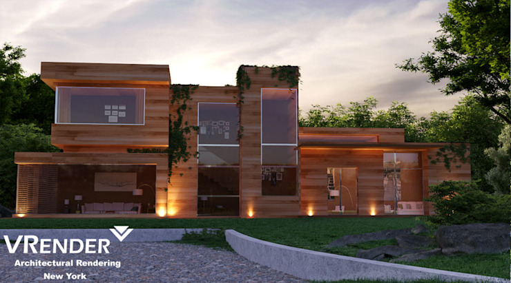 3d rendering outsourcing. Country style bars & clubs by Vrender company Country Glass