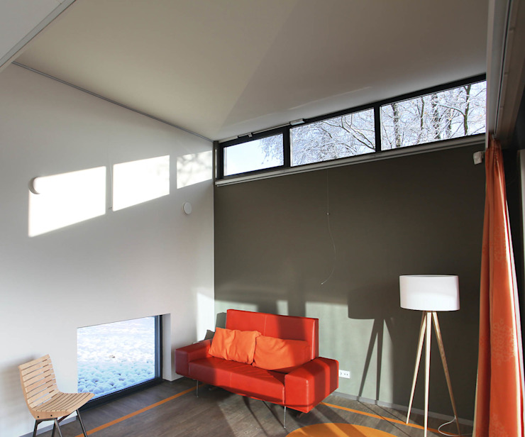 Flexibele paswoningen 'Het Dorp' Moderne woonkamers van Archipelontwerpers Modern