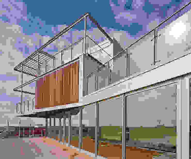Penthouse Nautilus – Scheveningse Haven Industriële balkons, veranda's en terrassen van Archipelontwerpers Industrieel Hout Hout