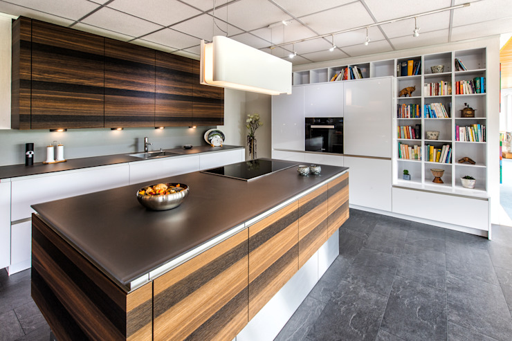 de Küchenstudio Prühäuser Moderno Vidrio