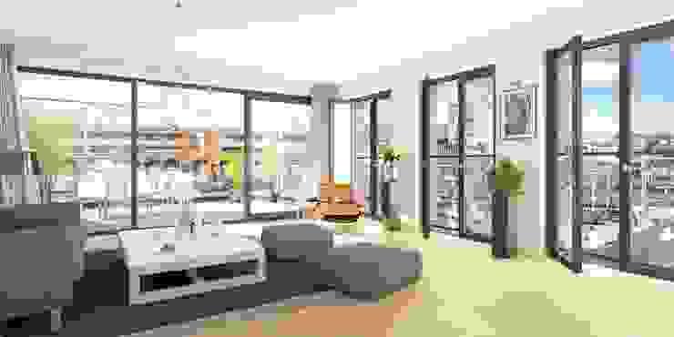 Havenmeester appartementen Moderne woonkamers van Archipelontwerpers Modern
