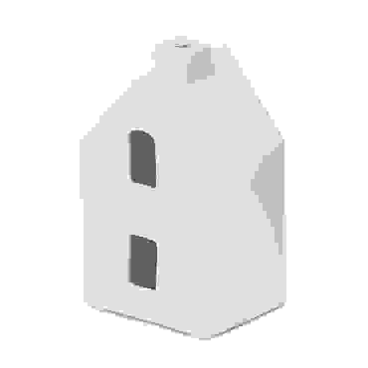 1 Light Ceramic House Styled Table Lamp - White Litecraft SoggiornoIlluminazione