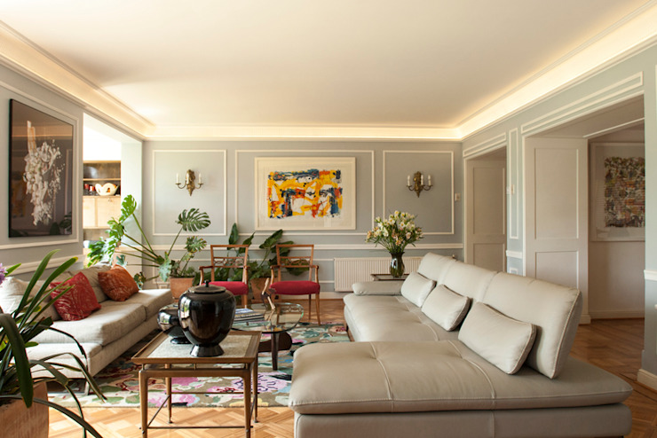 Living room by Dx Arquitectos