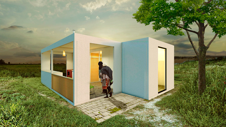 Variable Prefabricated home Reinforced concrete White