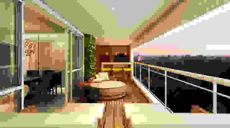 Varanda Gourmet Varandas, alpendres e terraços modernos por Semíramis Alice Arquitetura & Design Moderno