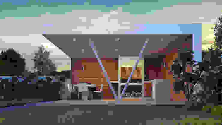 QUINCHO VERDUGO Balcones y terrazas modernos de homify Moderno Hierro/Acero