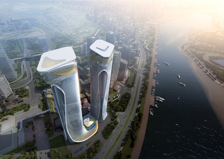Zhuhai Hengqin Headquarters Complex (Phase II), Zhuhai, China by Architecture by Aedas Modern