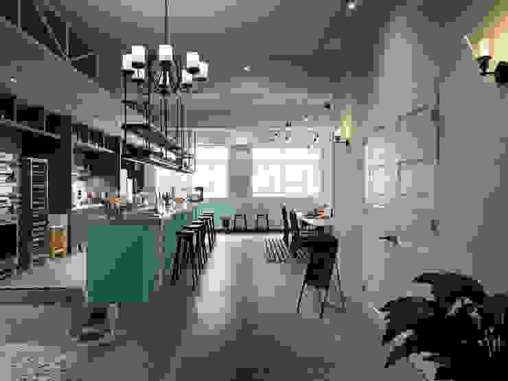 玩食樂章-烘培坊的玄關入口處的規劃設計 根據 一水一木設計工作室 隨意取材風