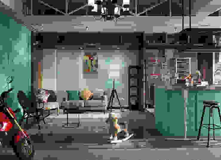 玩食樂章-烘培坊的玄關入口處的規劃設計: 不拘一格  by 一水一木設計工作室, 隨意取材風
