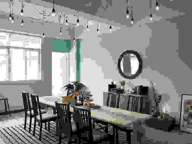 用餐的陳列設計 根據 一水一木設計工作室 隨意取材風 木頭 Wood effect