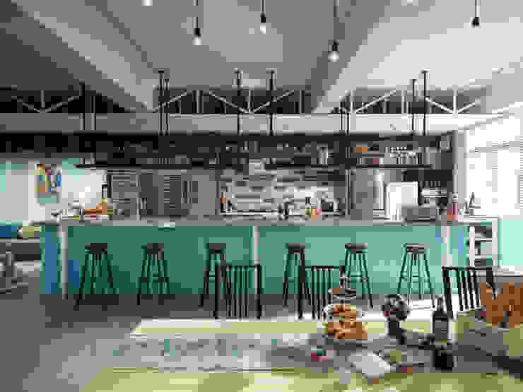 玩食樂章-烘培坊正面拍攝 根據 一水一木設計工作室 隨意取材風 合板