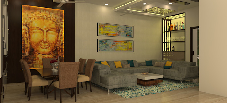 Formal Living Area Modern living room by homify Modern