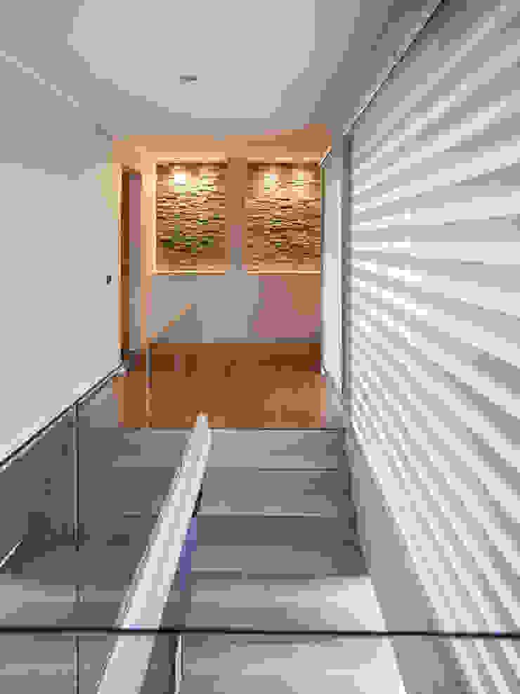 Casa Patio Pasillos, vestíbulos y escaleras modernos de Bauer Arquitectos Moderno