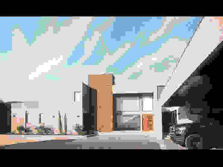 Casa Patio Casas estilo moderno: ideas, arquitectura e imágenes de Bauer Arquitectos Moderno