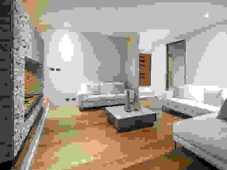 Casa Patio Livings de estilo moderno de Bauer Arquitectos Moderno