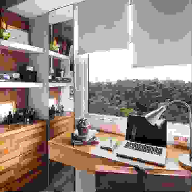 Industrial London inspired apartment Ruang Studi/Kantor Gaya Industrial Oleh SATTVA square Industrial