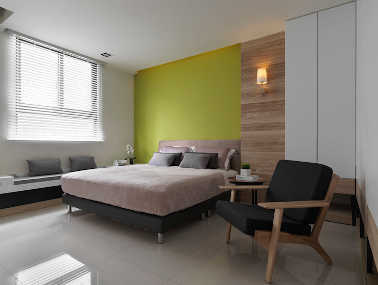 غرفة نوم تنفيذ 夏沐森山設計整合, حداثي