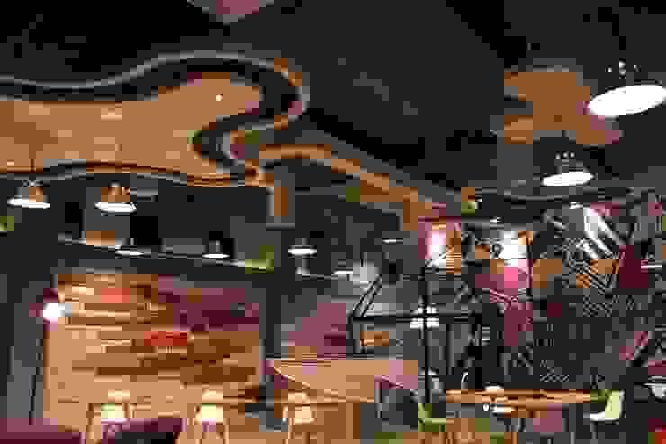 Open office 1st floor Ruang Komersial Gaya Industrial Oleh Kottagaris interior design consultant Industrial