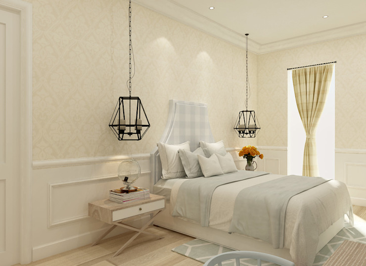 Colonial style bedroom by Kottagaris interior design consultant Colonial
