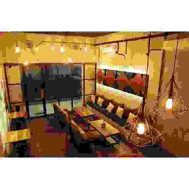 Nefes ID Cafe G-Walk Surabaya Ruang Makan Gaya Industrial Oleh JM Interior Design Industrial