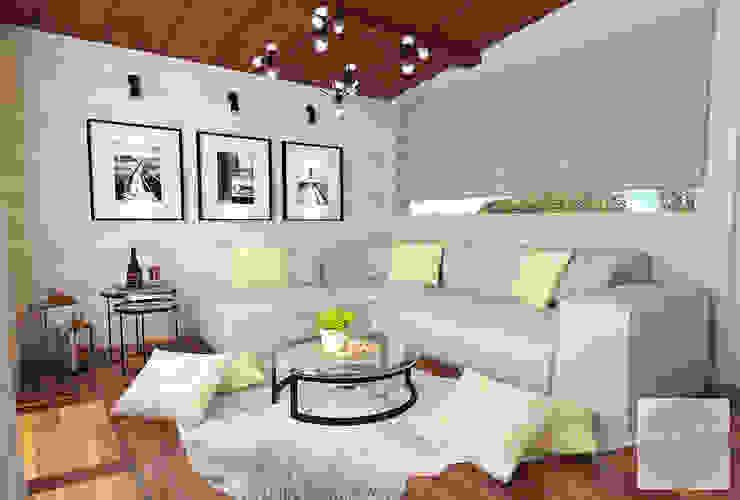 Ruang Santai villa puncak tidar malang Oleh JM Interior Design