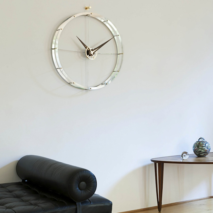 Nomon Doble O - Walnut & Steel: modern  by Just For Clocks,Modern Metal