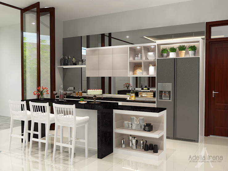 PEKA INTERIOR Kitchen units Glass Grey