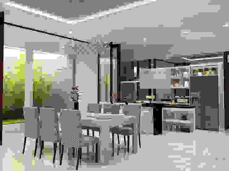 Ruang Makan Ruang Makan Modern Oleh AIRE INTERIOR Modern Kaca