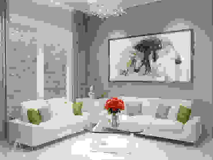 Ruang Tamu:  Ruang Keluarga by AIRE INTERIOR