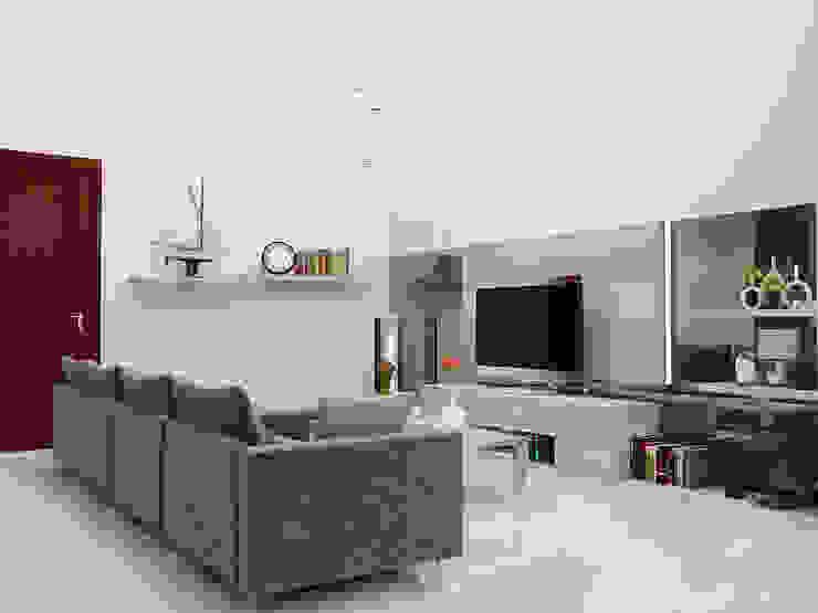 Ruang Keluarga Ruang Keluarga Modern Oleh PEKA INTERIOR Modern Kaca