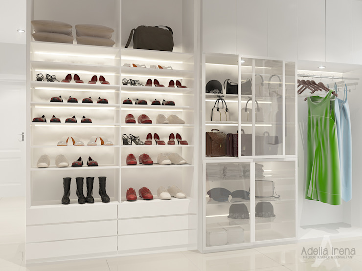 Walk in closet de estilo  por AIRE INTERIOR ,