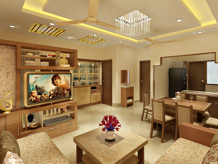 3 Floor Residential Villa Classic style living room by Srijan Homes Classic