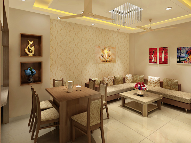 3 Floor Residential Villa Classic style dining room by Srijan Homes Classic