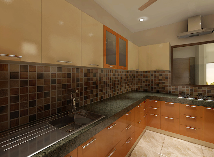 3 BEDROOM + STUDY Classic style kitchen by Srijan Homes Classic