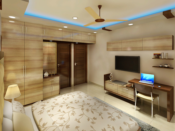 3 BEDROOM + STUDY Classic style bedroom by Srijan Homes Classic