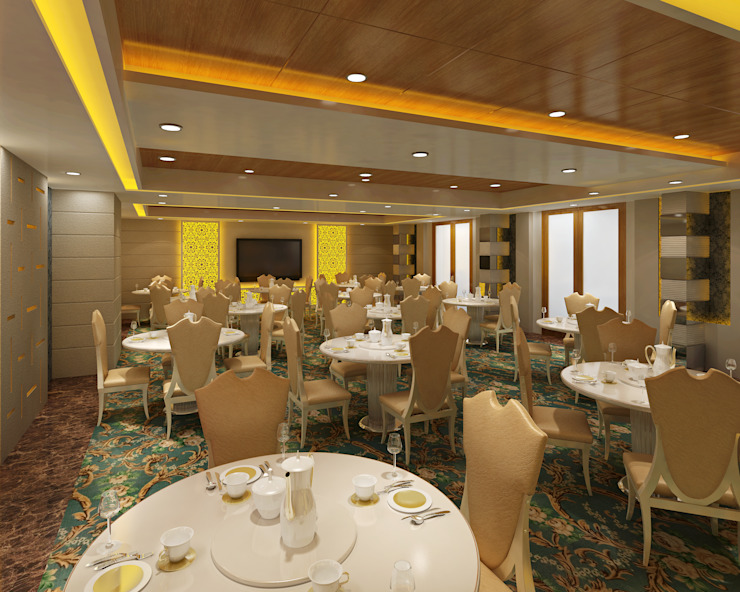 Hotel - Restaurant, Banquet and Convention Center Colonial style hotels by Srijan Homes Colonial