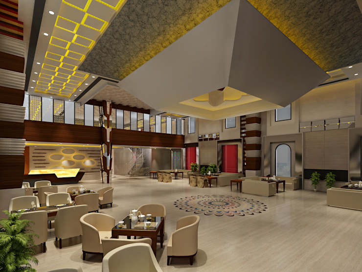 Hotel—Restaurant, Banquet and Convention Center Colonial style hotels by Srijan Homes Colonial