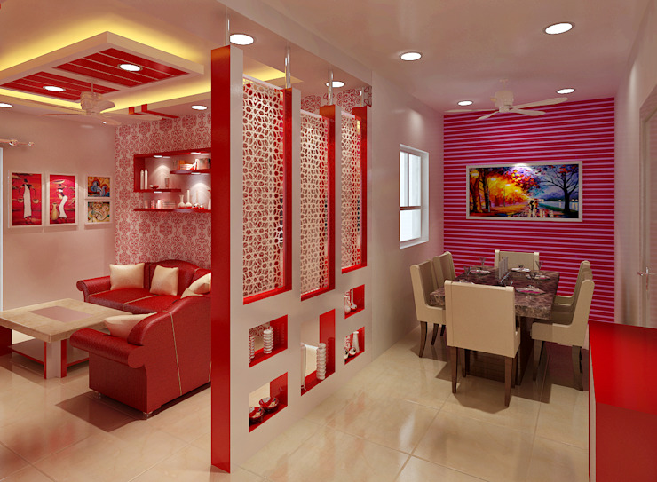 3 Bedroom Independent Floor:  Dining room by Srijan Homes,