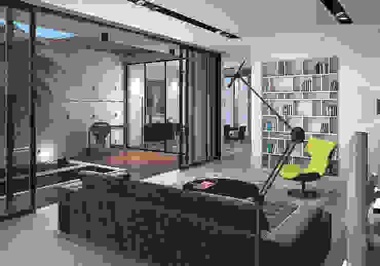 Bangka X House Ruang Keluarga Minimalis Oleh INK DESIGN STUDIO Minimalis