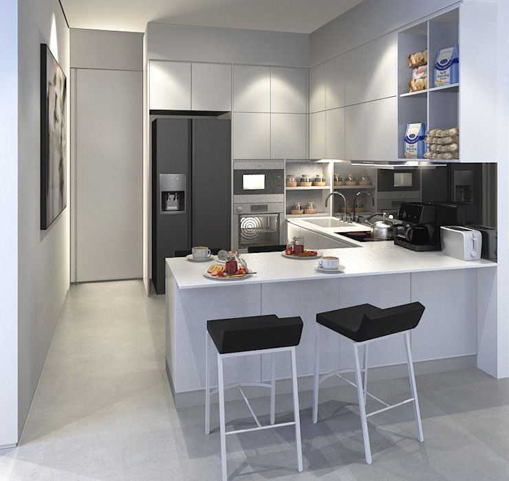 Kitchen by INK DESIGN STUDIO