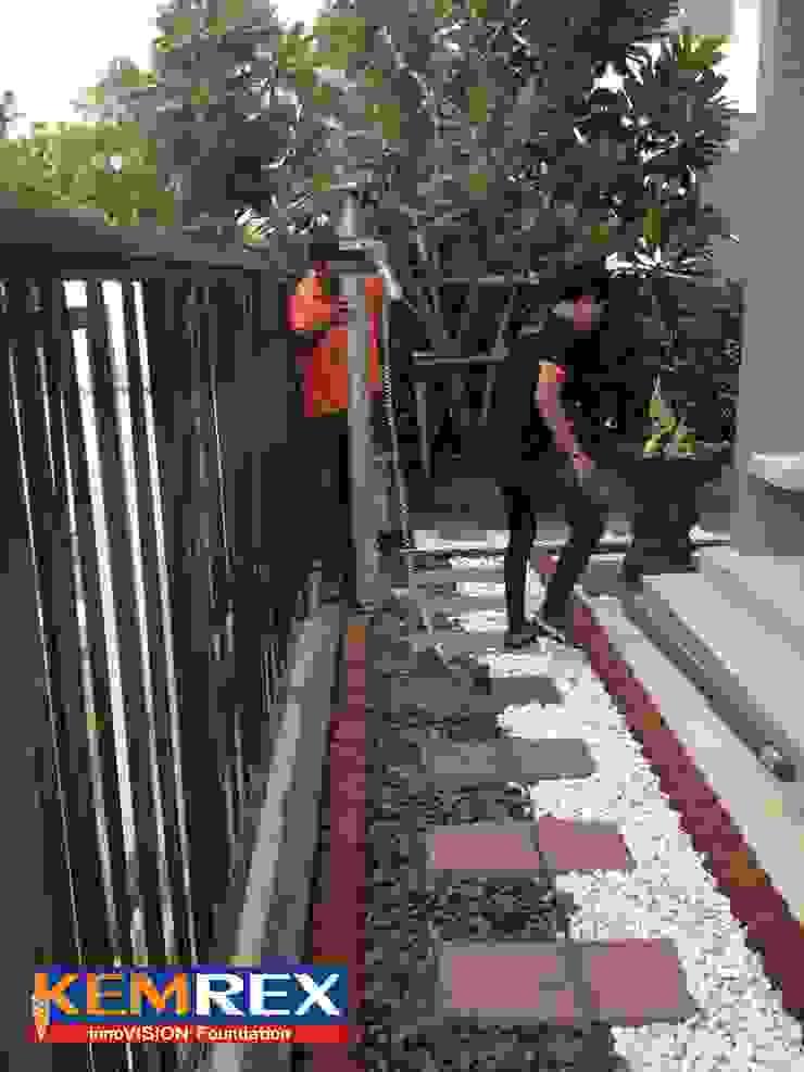 งานเข็มเหล็กฐานรากโครงหลังหน้าบ้าน คุณมาชาย่า โดย บริษัทเข็มเหล็ก จำกัด