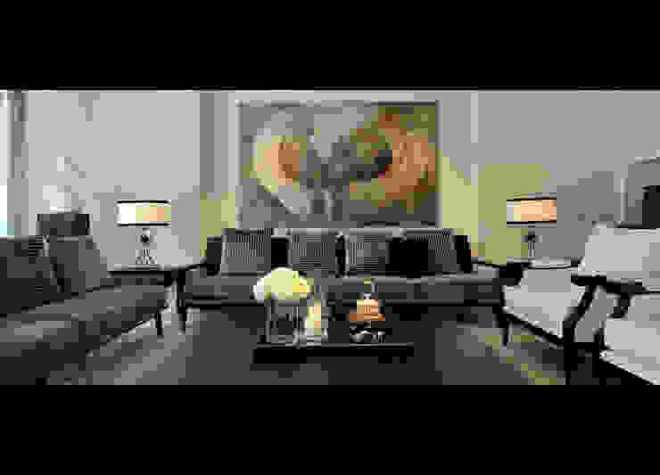 客廳 现代客厅設計點子、靈感 & 圖片 根據 原形空間設計 現代風