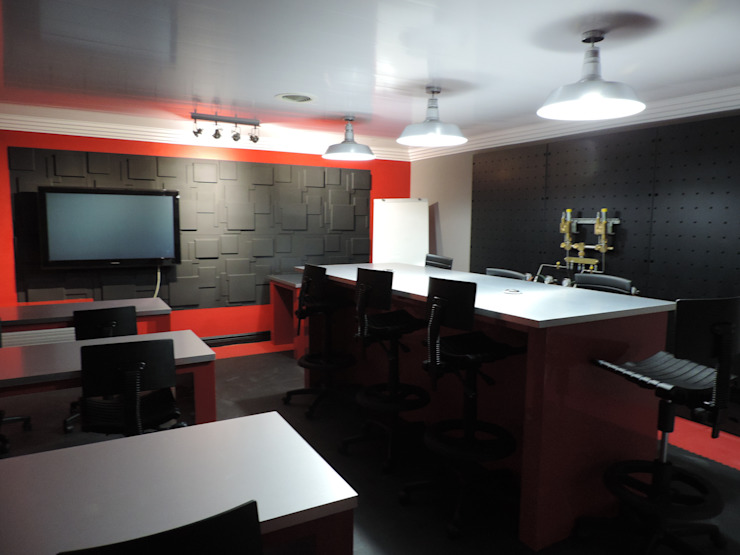 Fire and Security - After Boardroom by Leone Truter Interiors
