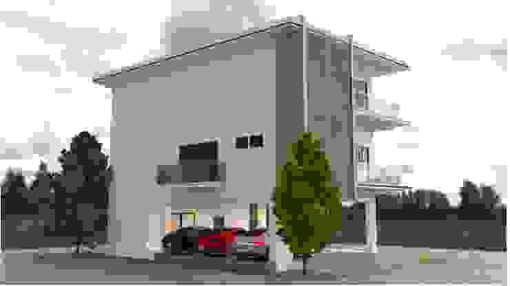 ออกแบบบ้าน 3 ชั้น style modern โดย mayartstyle โมเดิร์น คอนกรีตเสริมแรง